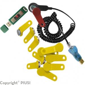 USB Kit keys met software – met gele sleutels