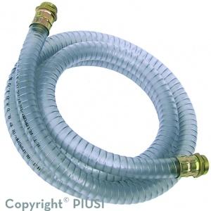 PVC aanzuigslang met geperste koppelingen 1″ – 3 m